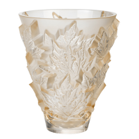 Lalique Champs-Elysees Vase 18x14,5 cm Gold luster Kristall