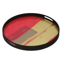 Raspberry Abstract Tablett Bright Abstract Kollektion von Notre Monde - 020451