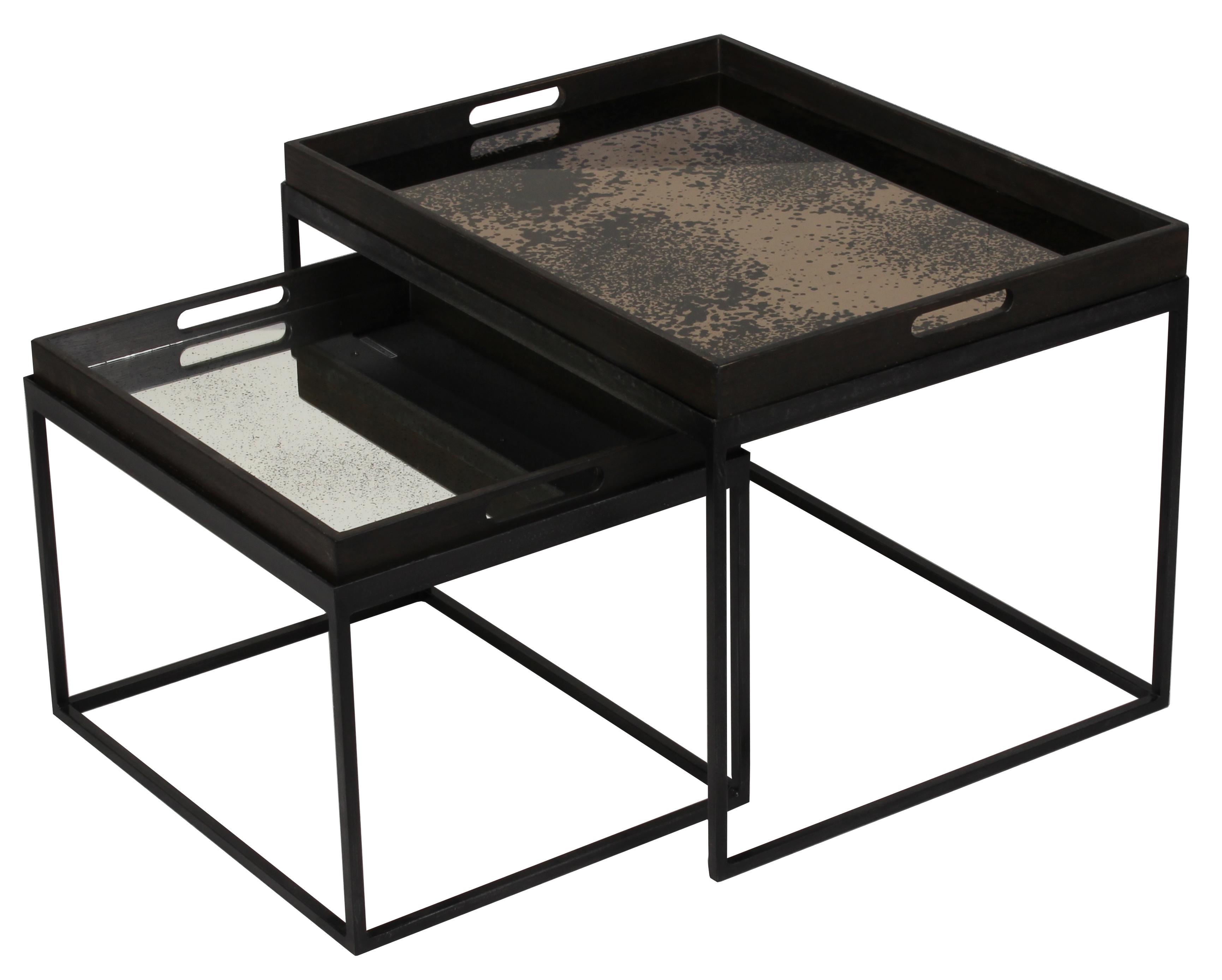 Notre Monde Tablett Tisch Tablett Tisch Set Niedrig Rechteckig