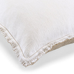 Elitis Kissen Big Karma (Real white et Flax) - 65x65cm - CO 174 01 06