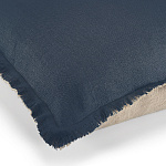 Elitis Kissen Big Karma (Navy blue et Flax) - 65x65cm - CO 174 49 06